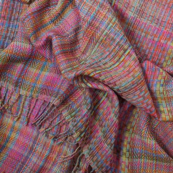 Oxana Woven Wool Wrap Scarf