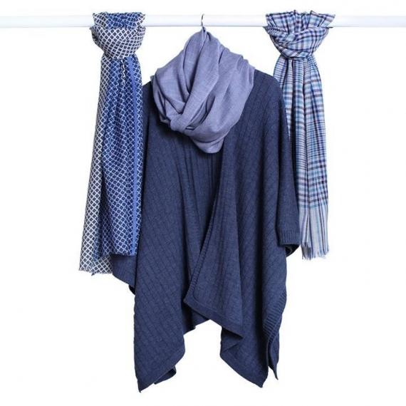 Whitney Merino Wool Melange Rib Cape