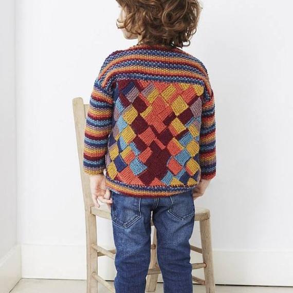Debbie Bliss Kids Entrelac Sweater 8 Ply