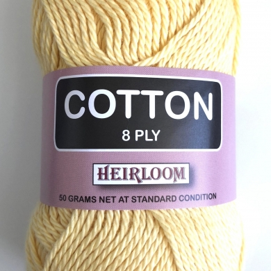 Heirloom Cotton 8 Ply - Daffodil