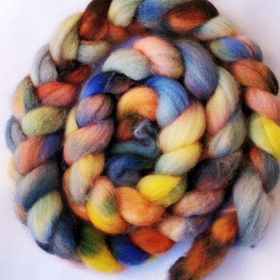 Hand Dyed Corriedale Roving 100g - Phiro