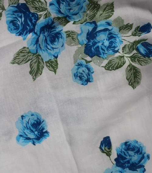 Cotton Button Top Roses