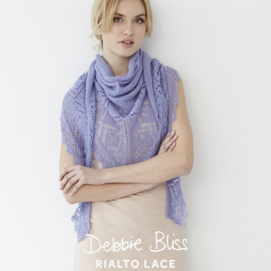 Debbie Bliss Lace Edge Shawl 2 Ply Pattern