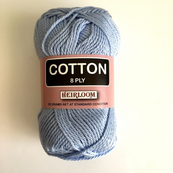 Heirloom Cotton 8 Ply - Blue