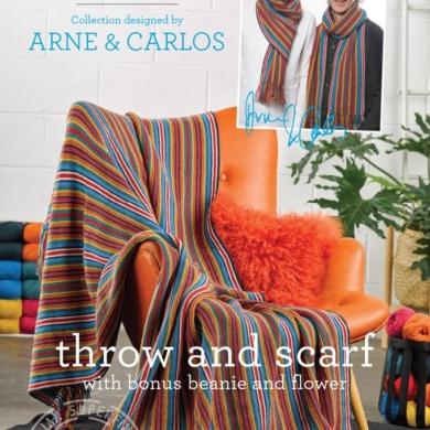 Arne & Carlos Throw, Scarf & Beanie Pattern 466