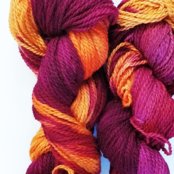 Hand Dyed Corriedale 8 Ply - 100g Asiatic