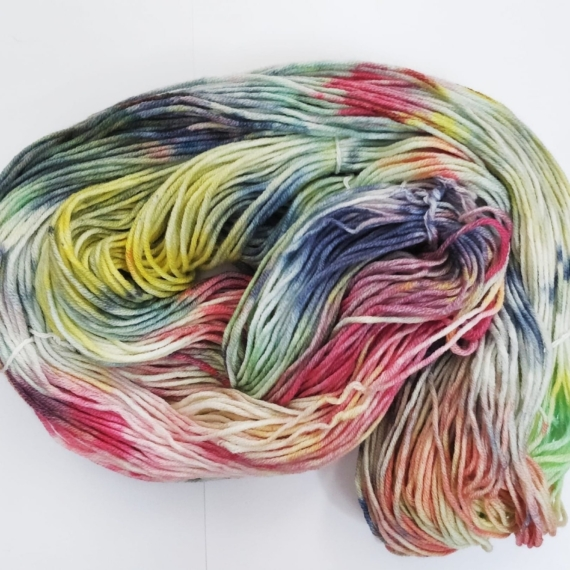 Hand Dyed Merino Wool 8 Ply 100g - Melted Sprinkles