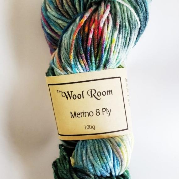 Hand Dyed Merino Wool 8 Ply 100g - Sphene