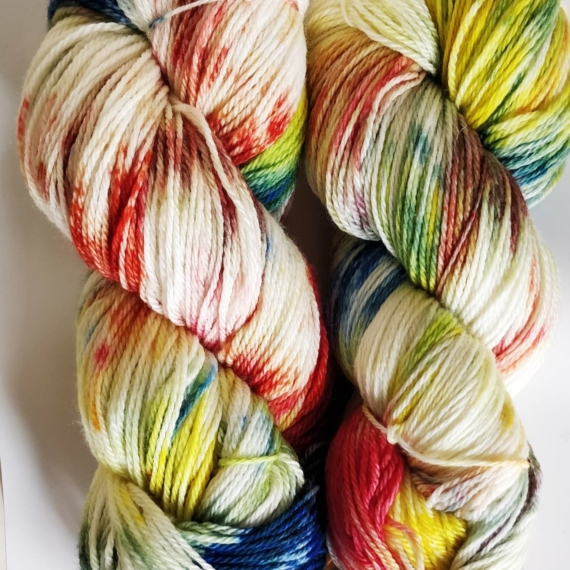 Hand Dyed Merino Wool 4 Ply 100g - Carnival