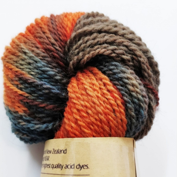 Hand Dyed Corriedale 8 Ply - Viper