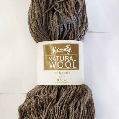Naturally Natural Wool 8 Ply 200g Light Brown