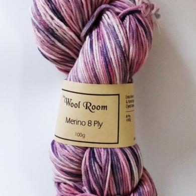 Hand Dyed Merino Wool 8 Ply 100g - Marshmallow