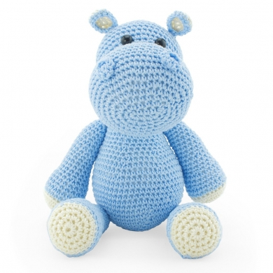 Crochet Toy Hippo - Blue