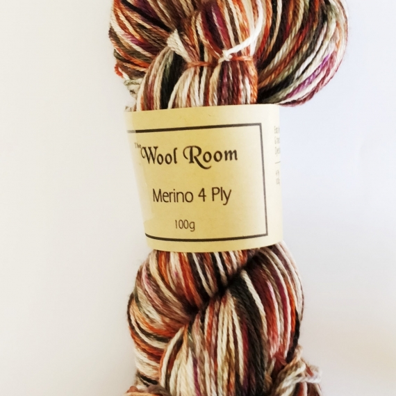 Hand Dyed Merino Wool 4 Ply 100g - Tigers Eye Matrix