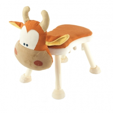 Wooden Cow Step Step Stool