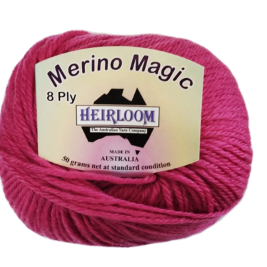 Heirloom Merino Magic 8 Ply - Lipstick Rose 6511