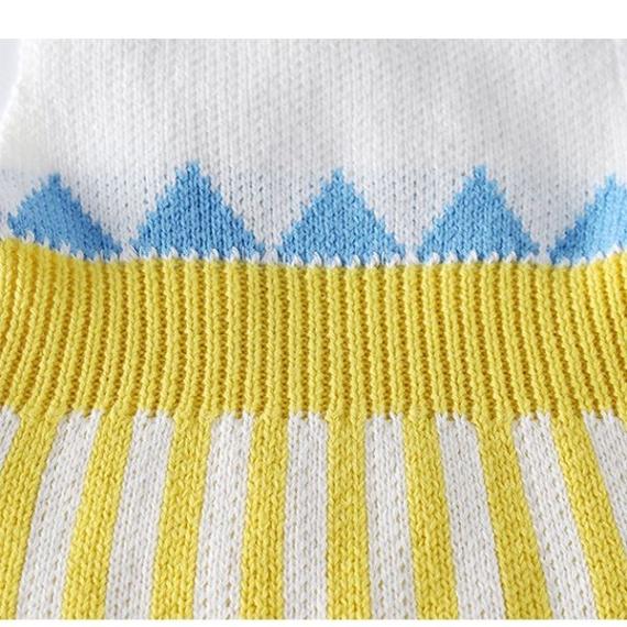 Cotton Crossover Romper Triangles Print