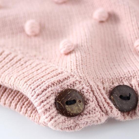Bobble Cotton Knit Romper