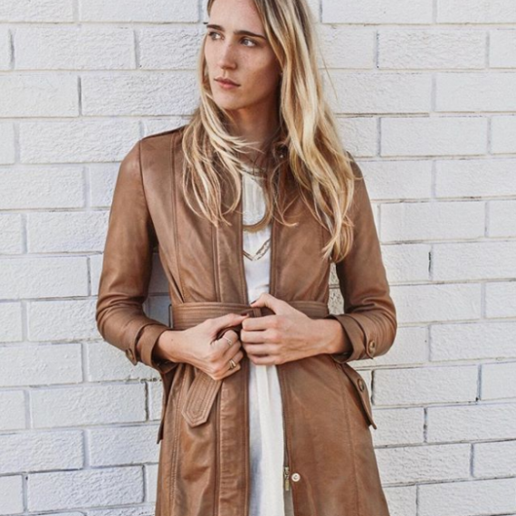 Blair Leather Trench