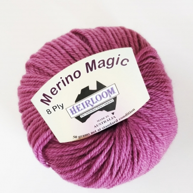 Heirloom Merino Magic 8 Ply - Soft Plum