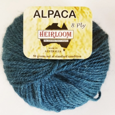 Heirloom Alpaca 8 Ply - Baltic