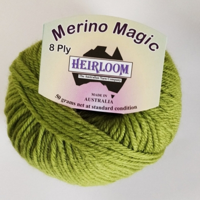 Heirloom Merino Magic 8 Ply - Celery