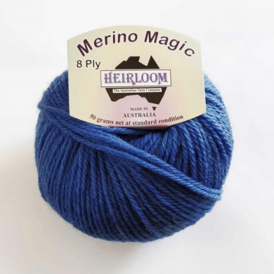 Heirloom Merino Magic 8 Ply - Bright Blue
