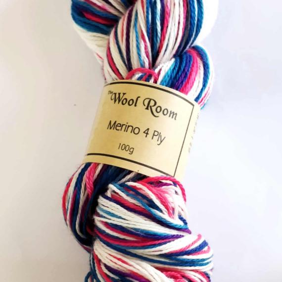 Hand Dyed Merino Wool 4 Ply 100g - Hot Star