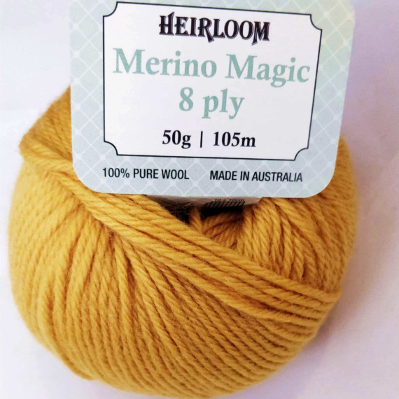 Heirloom Merino Magic 8 Ply - Gold