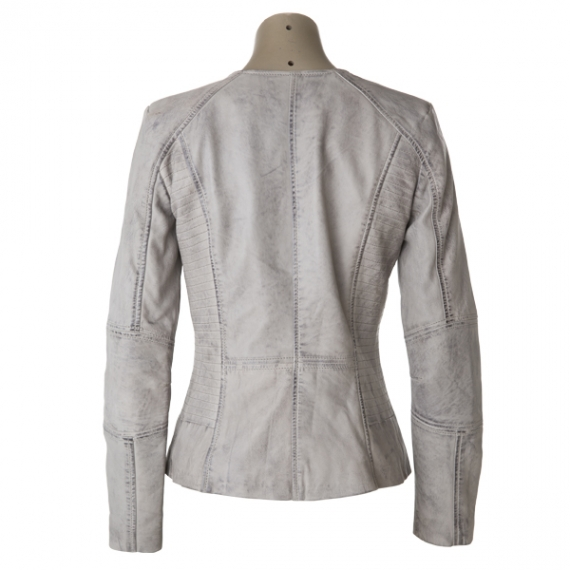 Cadelle Leather New York Jacket Light Grey