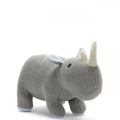 Baby Rhino Knitted Toy