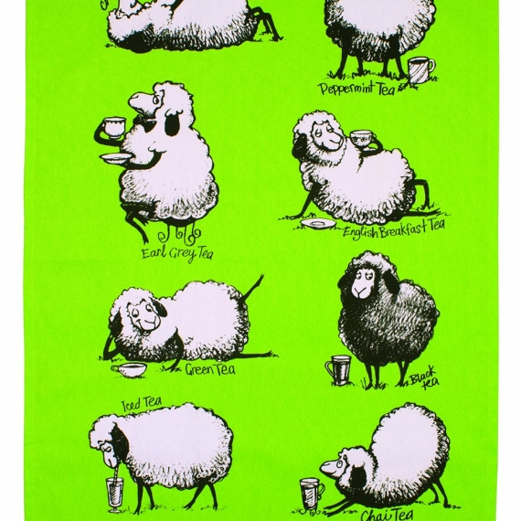 Tea Time Sheep Tea Towel