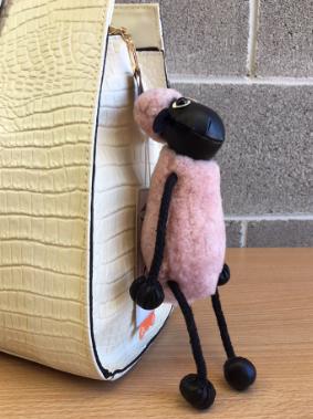 Sheepskin Sheep Keyring
