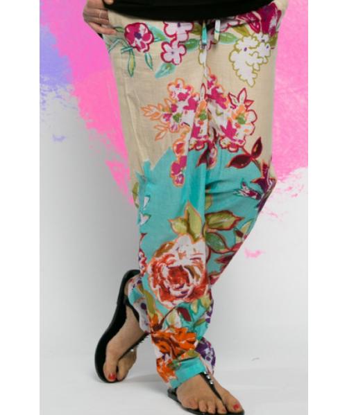 Chilli Cotton Pants Floral Print