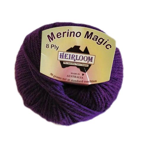 Heirloom Merino Magic 8 Ply - Royal Purple
