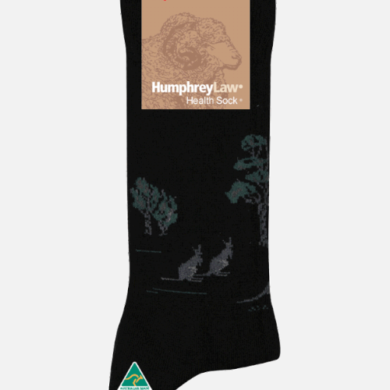 Humphrey Law Wool Kangaroo Pattern Sock - Ladies 3-8, Beige