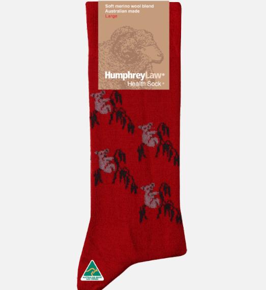 Humphrey Law Wool Koala Pattern Sock