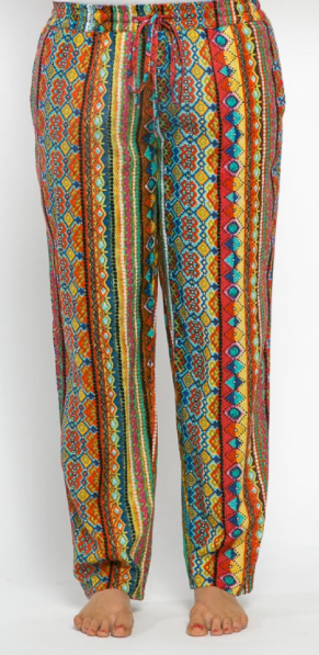 Chilli Cotton Pants Mexicana Print