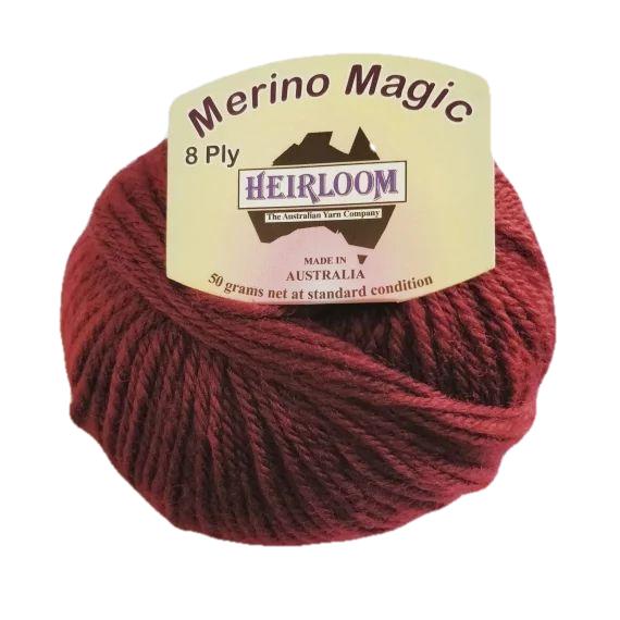 Heirloom Merino Magic 8 Ply - Deep Auburn