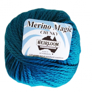 Heirloom Merino Magic Chunky 14 Ply 125g - Teal