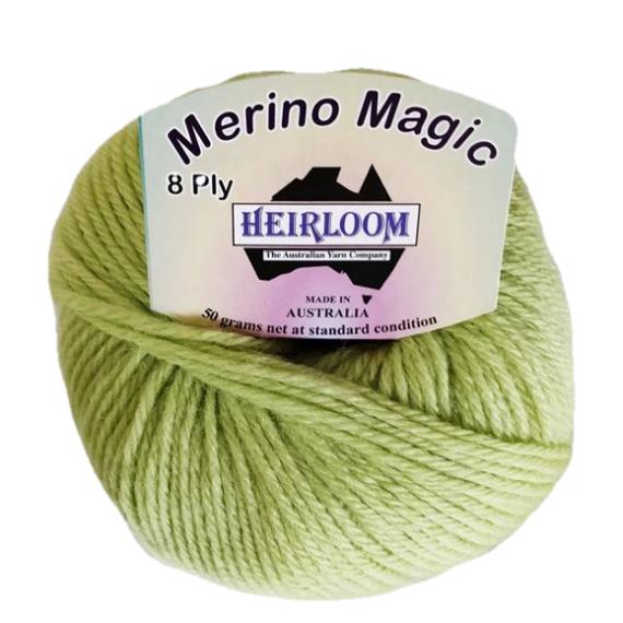Heirloom Merino Magic 8 Ply - Celery