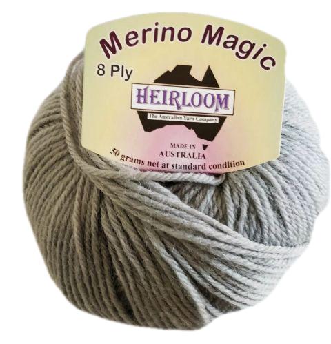 Heirloom Merino Magic 8 Ply - Baltic Grey