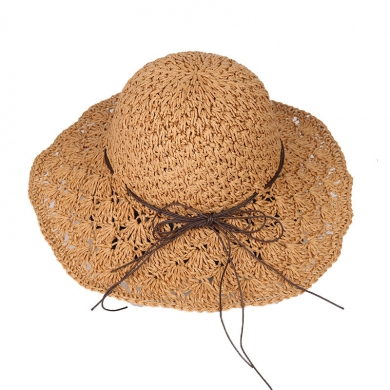 Crochet Lace Paper Raffia Hat