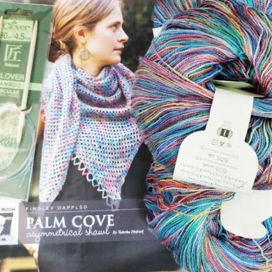 Palm Cove Shawl Knit Kit
