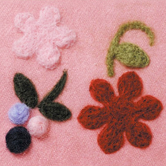 Clover Needle Felting Applique Mold - Floret & Berries