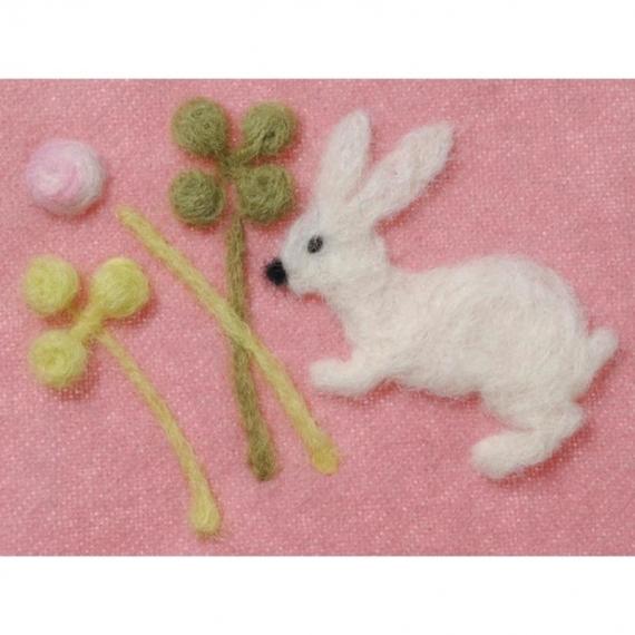 Clover Needle Felting Applique Mold - Clover & Rabbit