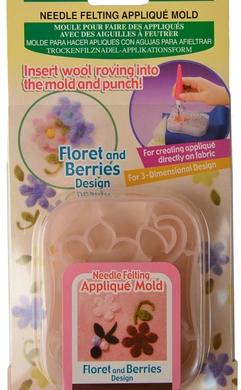 Clover Needle Felting Applique Mold - Floret & Berries