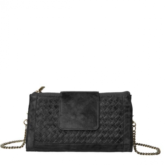 Cadelle Leather Prato Convertible Wallet Black