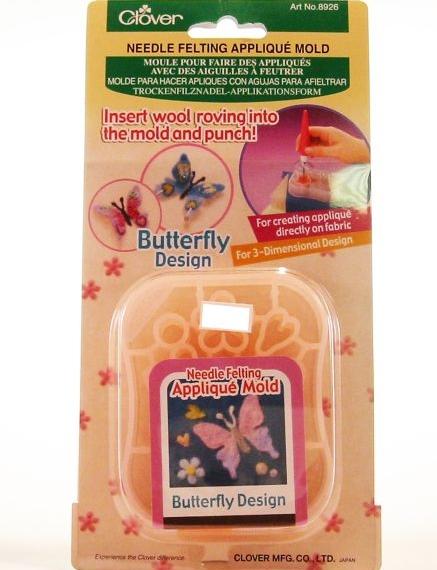 Clover Needle Felting Applique Mold - Butterfly