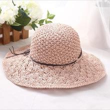 Crochet Lace Paper Raffia Hat - Cream